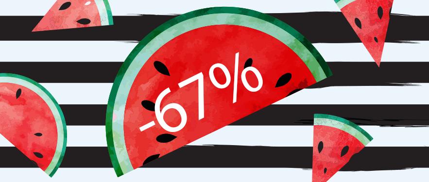 Ljeto nam je stiglo i donijelo vrele popuste do -67% na naše HIT proizvode!